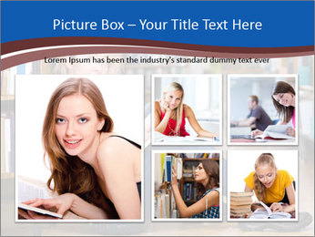 Female student PowerPoint Template - Slide 19
