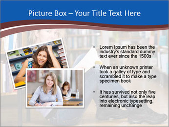 Female student PowerPoint Template - Slide 20