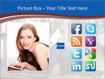 Female student PowerPoint Template - Slide 21
