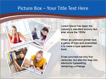 Female student PowerPoint Template - Slide 23