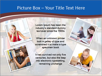 Female student PowerPoint Template - Slide 24