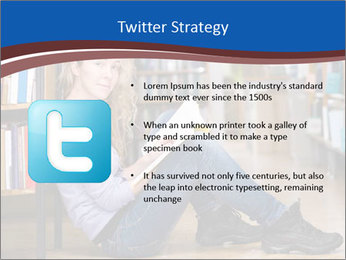Female student PowerPoint Template - Slide 9