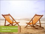 Two deckchairs PowerPoint Templates