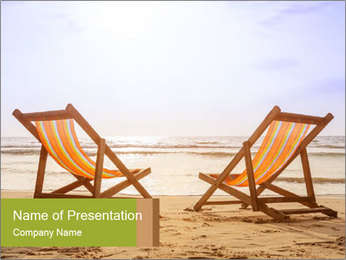 Two deckchairs PowerPoint Template