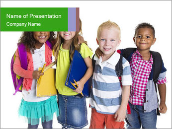 Elementary School Kids PowerPoint Template