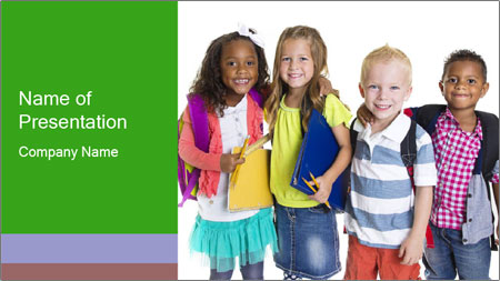 Elementary School Kids PowerPoint Template