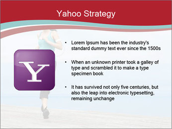 Beautiful young woman jogging PowerPoint Template - Slide 11