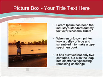 Beautiful young woman jogging PowerPoint Template - Slide 13