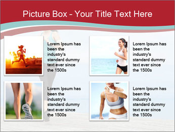 Beautiful young woman jogging PowerPoint Template - Slide 14