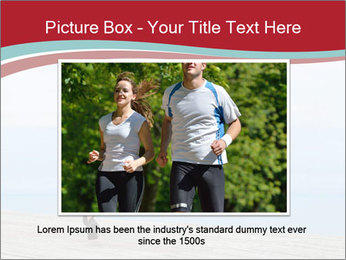 Beautiful young woman jogging PowerPoint Template - Slide 15