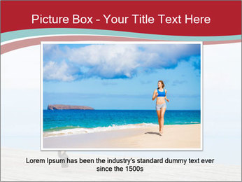 Beautiful young woman jogging PowerPoint Template - Slide 16