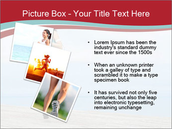 Beautiful young woman jogging PowerPoint Template - Slide 17