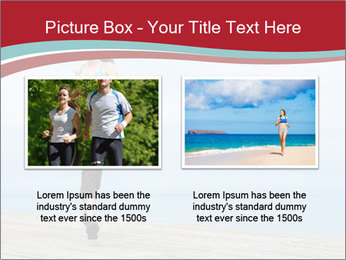 Beautiful young woman jogging PowerPoint Template - Slide 18
