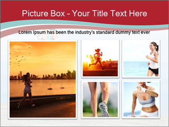 Beautiful young woman jogging PowerPoint Template - Slide 19