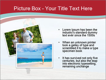 Beautiful young woman jogging PowerPoint Template - Slide 20