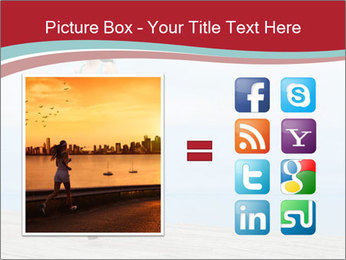 Beautiful young woman jogging PowerPoint Template - Slide 21