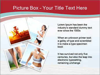 Beautiful young woman jogging PowerPoint Template - Slide 23