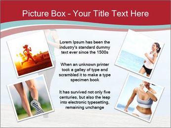 Beautiful young woman jogging PowerPoint Template - Slide 24