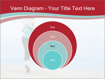 Beautiful young woman jogging PowerPoint Template - Slide 34