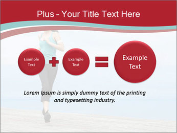 Beautiful young woman jogging PowerPoint Template - Slide 75