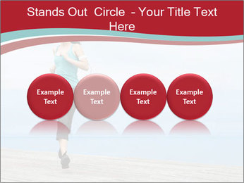 Beautiful young woman jogging PowerPoint Template - Slide 76