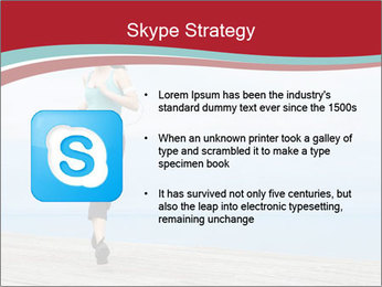 Beautiful young woman jogging PowerPoint Template - Slide 8
