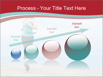 Beautiful young woman jogging PowerPoint Template - Slide 87