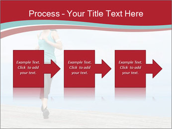 Beautiful young woman jogging PowerPoint Template - Slide 88