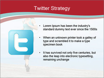 Beautiful young woman jogging PowerPoint Template - Slide 9