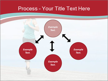 Beautiful young woman jogging PowerPoint Template - Slide 91