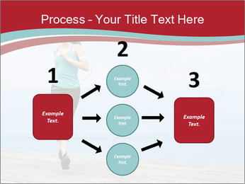 Beautiful young woman jogging PowerPoint Template - Slide 92