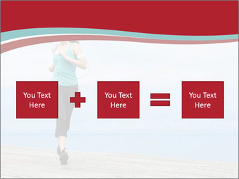 Beautiful young woman jogging PowerPoint Template - Slide 95