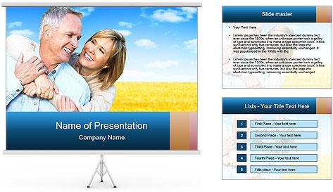 Happy Senior PowerPoint Template