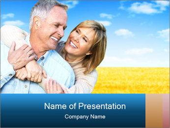 Happy Senior PowerPoint Template - Slide 1