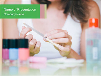 Woman smoothing PowerPoint Template