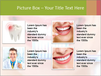 Beautiful woman with toothbrush PowerPoint Template - Slide 14