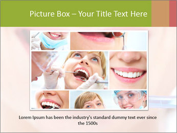 Beautiful woman with toothbrush PowerPoint Template - Slide 15