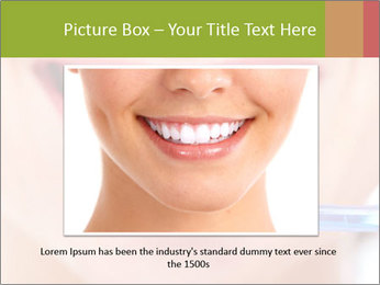 Beautiful woman with toothbrush PowerPoint Template - Slide 16