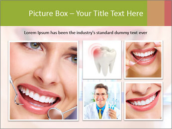 Beautiful woman with toothbrush PowerPoint Template - Slide 19