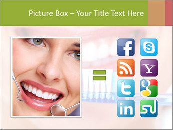 Beautiful woman with toothbrush PowerPoint Template - Slide 21