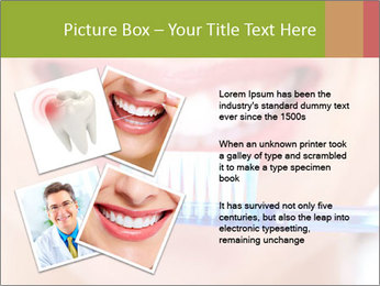 Beautiful woman with toothbrush PowerPoint Template - Slide 23