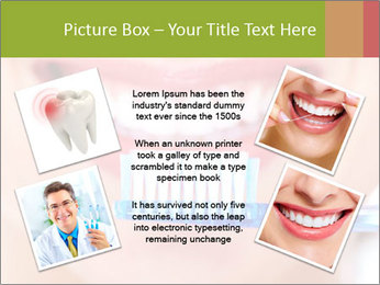 Beautiful woman with toothbrush PowerPoint Template - Slide 24