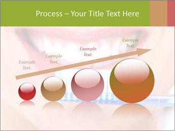 Beautiful woman with toothbrush PowerPoint Template - Slide 87