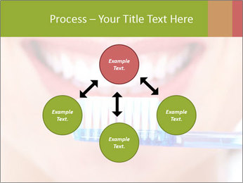 Beautiful woman with toothbrush PowerPoint Template - Slide 91