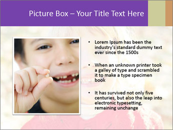 Little girl in fall missing PowerPoint Template - Slide 13