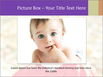 Little girl in fall missing PowerPoint Template - Slide 15
