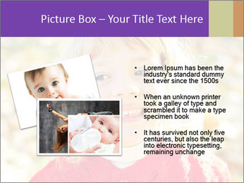 Little girl in fall missing PowerPoint Template - Slide 20