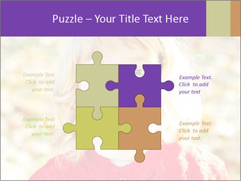 Little girl in fall missing PowerPoint Template - Slide 43
