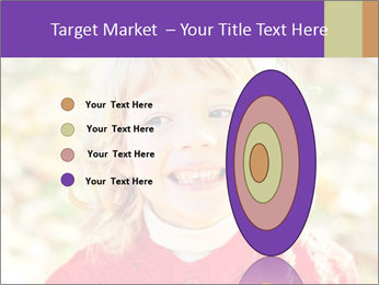 Little girl in fall missing PowerPoint Template - Slide 84