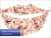 Smile collage PowerPoint Templates